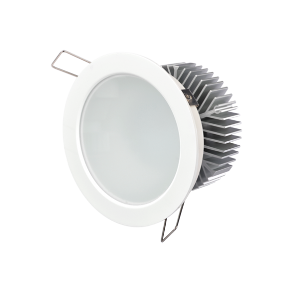 flood beam angle, own light with integrated power supply, round panel light, wide beam angle