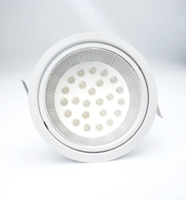 flood beam angle, own light with integrated power supply, round panel light, wide beam angleam Angle